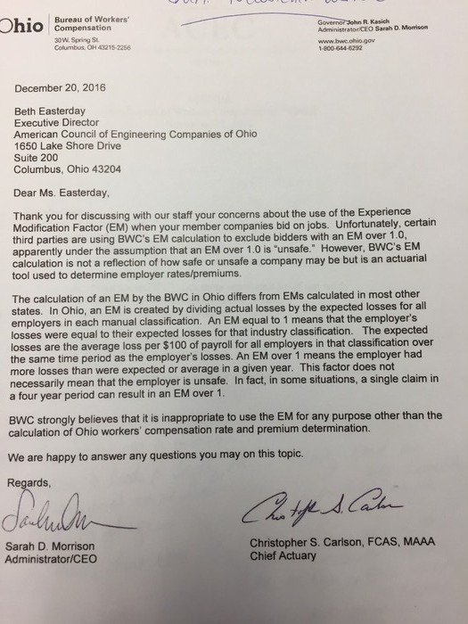BWC Letter