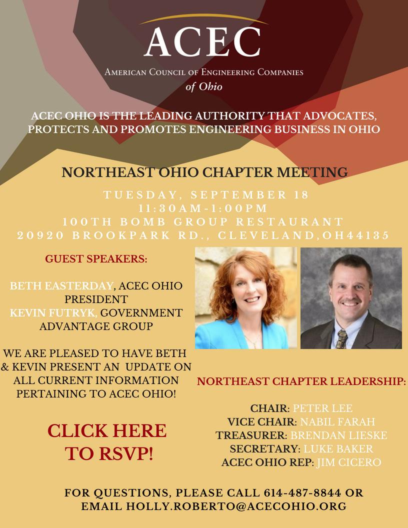 ACEC Ohio Northeast Chapter Meeting